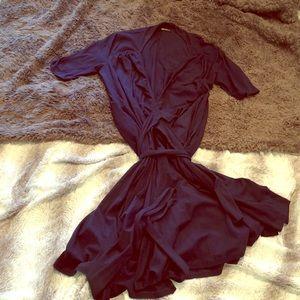 Navy wrap around dress